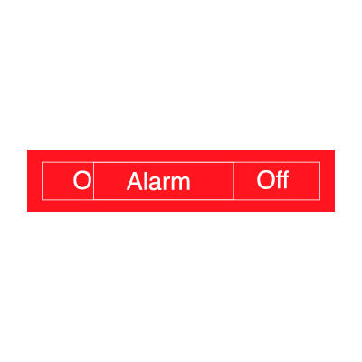Engraved Occupancy Sign - Alarm On Off - Red