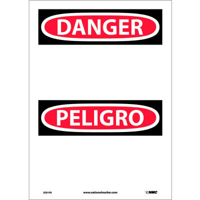 Bilingual Vinyl Sign - Danger Blank