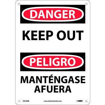 Bilingual Plastic Sign - Danger Keep Out