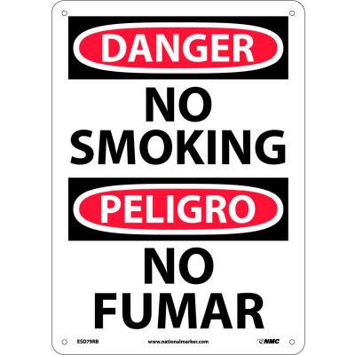 Bilingual Plastic Sign - Danger No Smoking