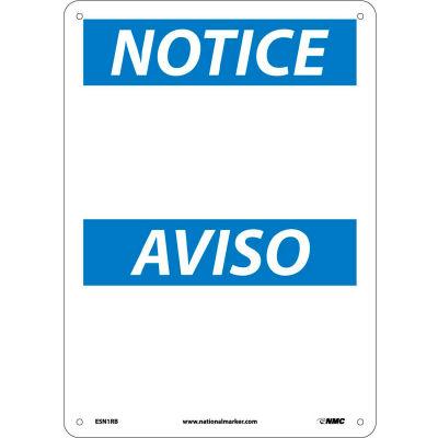 Bilingual Plastic Sign - Notice Blank