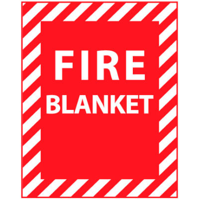 Fire Safety Sign - Fire Blanket - Vinyl