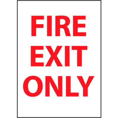 Fire Safety Sign - Fire Exit Only - Plastic