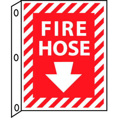 Fire Flange Sign - Fire Hose with Down Arrow