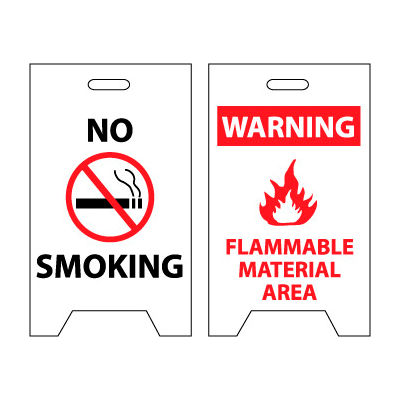Floor Sign - No Smoking Warning Flammable Material Area