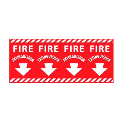 Fire Safety Sign - Fire Extinguisher Column Marker