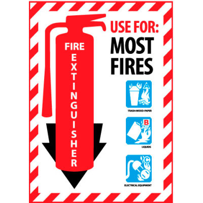 Fire Extinguisher Class Marker - Use For Most Fires - Plastic