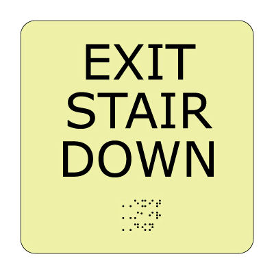 Glow Braille - Exit Stair Down