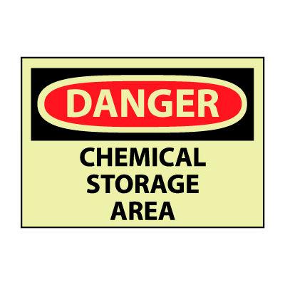 Glow Danger Vinyl - Chemical Storage Area