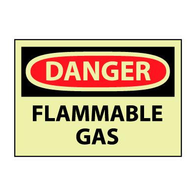 Glow Danger Vinyl - Flammable Gas