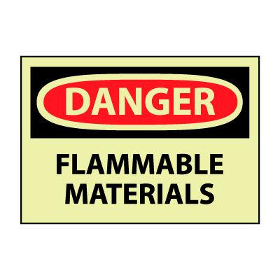 Glow Danger Vinyl - Flammable Material