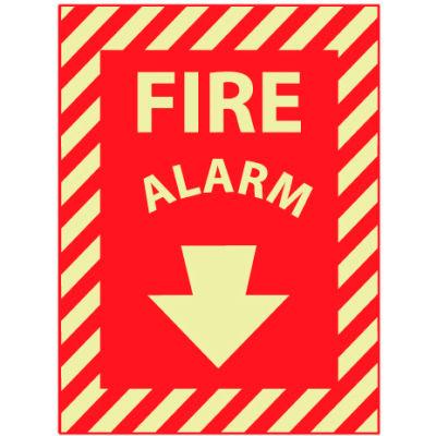 Glow Sign Rigid Plastic 12x9 - Fire Alarm