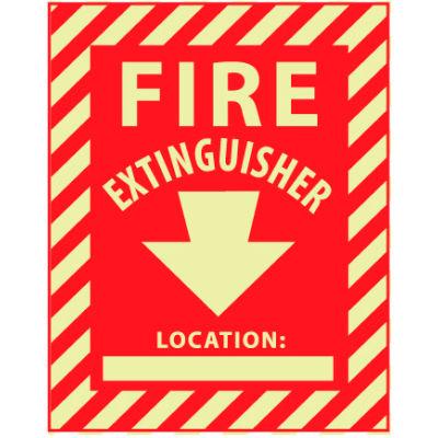 Glow Sign Vinyl - Fire Extinguisher Location
