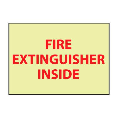 Glow Sign Vinyl - Fire Extinguisher Inside