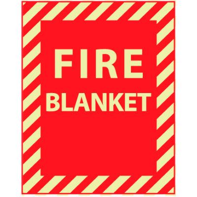 Glow Sign Rigid Plastic - Fire Blanket