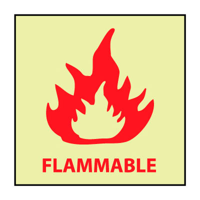 Glow Sign Rigid Plastic - Flammable