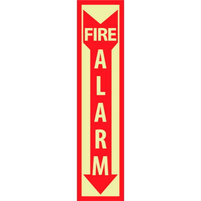 Glow Sign Rigid Plastic - Fire Alarm