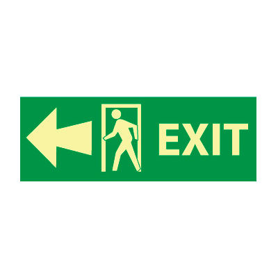 Glow Sign Vinyl - Exit(w/ Door And Left Arrow)
