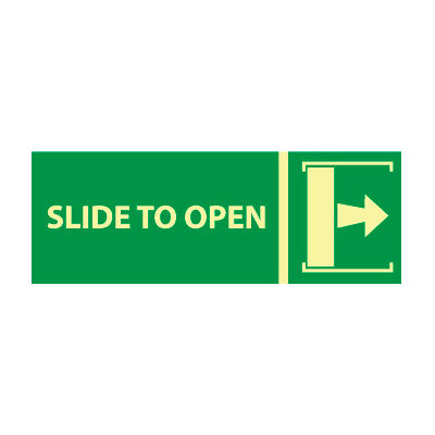 Glow Sign Vinyl - Slide To Open(w/ Right Arrow)