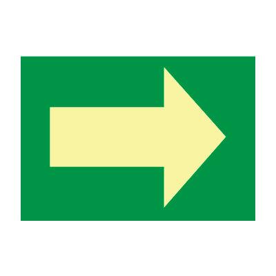 Glow Sign Rigid Plastic - Arrow