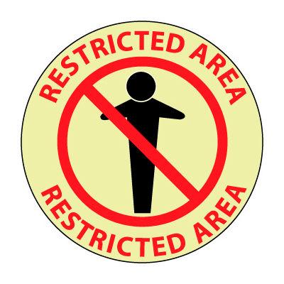 Glow Floor Sign - Restricted Area