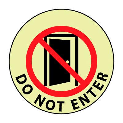 Glow Floor Sign - Do Not Enter