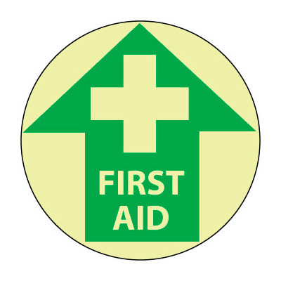 Glow Floor Sign - First Aid