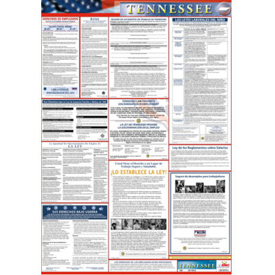 Labor Law Poster - Tennessee - Spanish