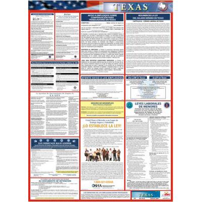 Labor Law Poster - Texas - Spanish