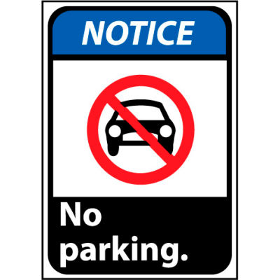 Notice Sign 14x10 Vinyl - No Parking