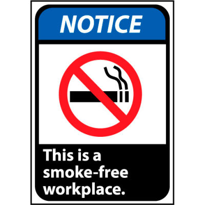 Notice Sign 14x10 Vinyl - This Is A Smoke-Free Workplace