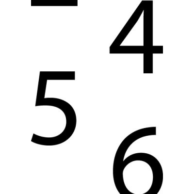 Adhesive Backed Assorted Number Set