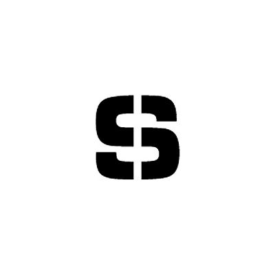 """Individual Character Stencil 12"""" - Letter S"""