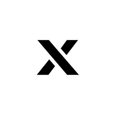 """Individual Character Stencil 12"""" - Letter X"""