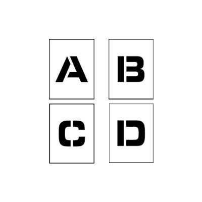 """Individual Character Stencil 24"""" - Letter Set A-Z"""