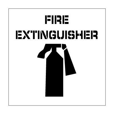 Plant Marking Stencil 20x20 - Fire Extinguisher