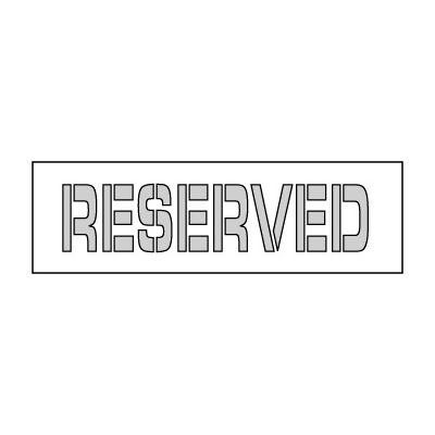 Parking Lot Stencil 21x4 - Reserved