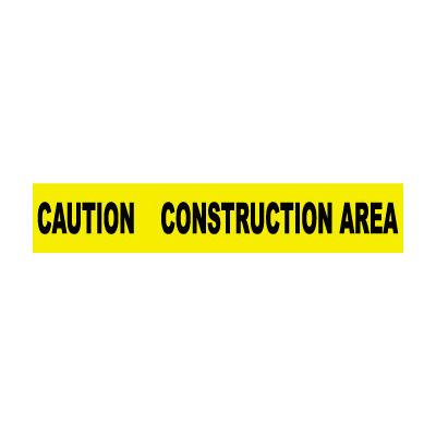 Printed Barricade Tape - Caution Construction Area