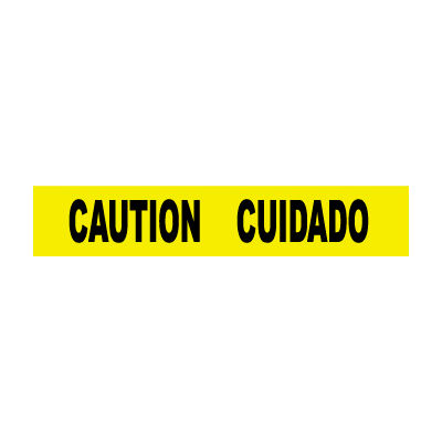 Printed Barricade Tape - Caution Cuidado