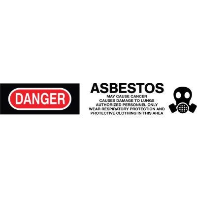 Printed Barricade Tape - Danger Asbestos Cancer And Lung Disease Hazard
