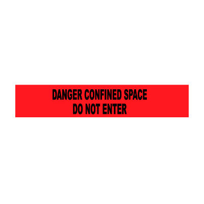 Printed Barricade Tape - Danger Confined Space Do Not Enter
