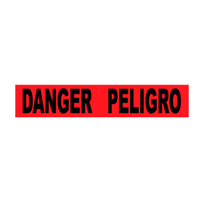 "Printed Barricade Tape - Danger Peligro, 3"" x 1000'"