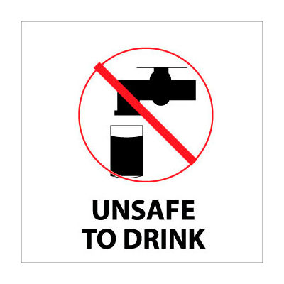 Graphic Safety Labels - Unsafe To Drink