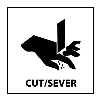Graphic Safety Labels - Cut / Sever