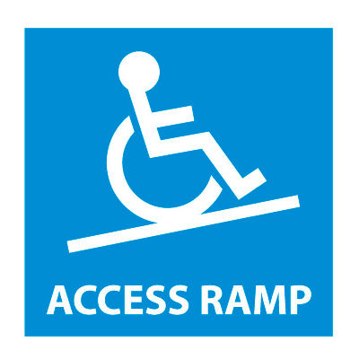 Graphic Safety Labels - Access Ramp with Symbol