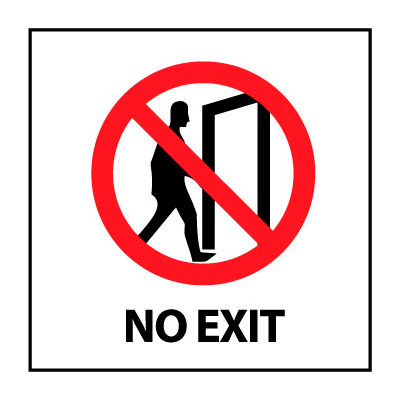Graphic Safety Labels - No Exit