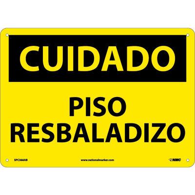 Spanish Aluminum Sign - Cuidado Piso Resbaladizo