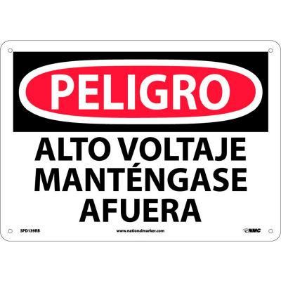 Spanish Plastic Sign - Peligro Alto Voltaje Mantengase Afuera