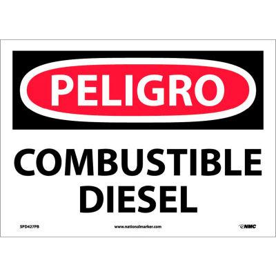 Spanish Vinyl Sign - Peligro Combustible Diesel