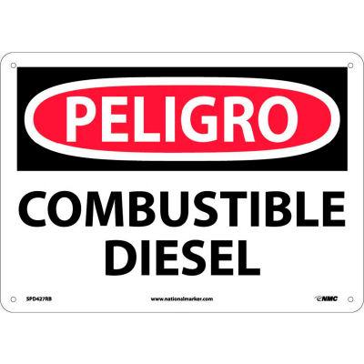 Spanish Plastic Sign - Peligro Combustible Diesel